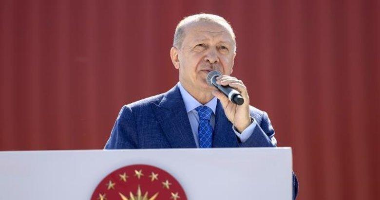 Başkan Erdoğan'dan Sakarya'da Tank Palet Fabrikası'na ziyaretinde önemli mesajlar