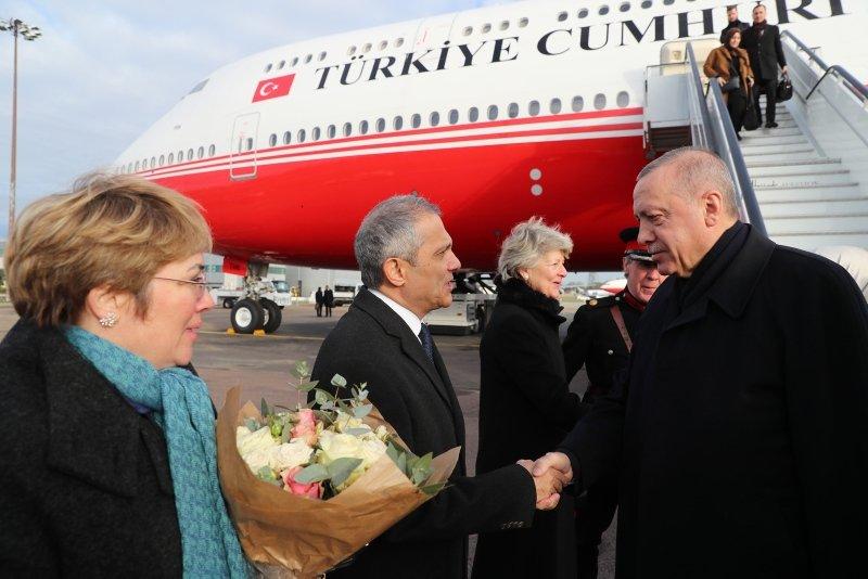 Başkan Erdoğan NATO Zirvesi için gittiği Londra'da böyle karşılandı