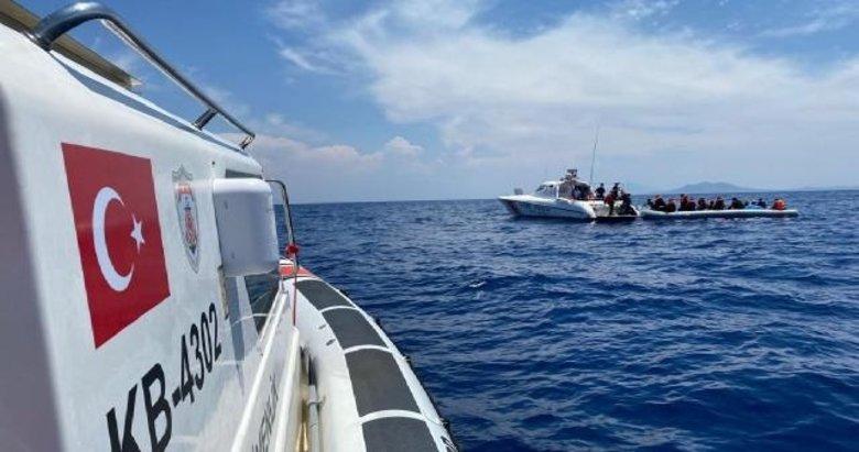 İzmir'de Türk kara sularına geri itilen 31 düzensiz göçmen kurtarıldı