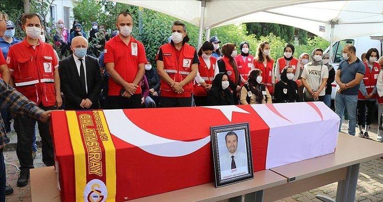 Suriye'de şehit olan Türk Kızılay personeli Kıdıman son yolculuğuna uğurlandı