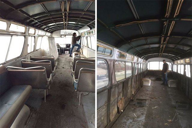 1966 model hurda otobüsü baştan yarattılar