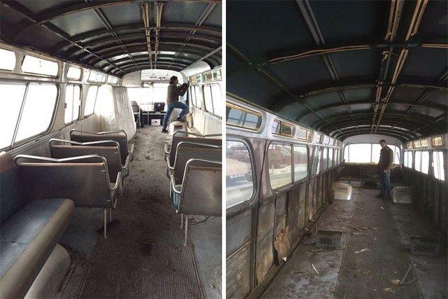Hurda otobüsü baştan yarattılar! Değişimi görenleri şok etti