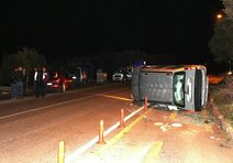 Ayvalık'ta trafik kazası ucuz atlatıldı