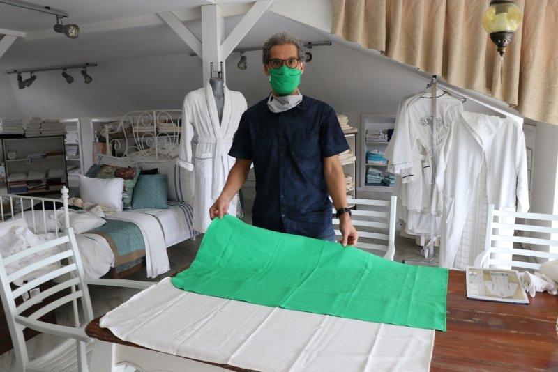 Denizli'de bakteri testlerinden geçen, tek kullanımlık seccade üretildi