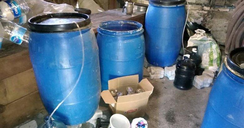 Muğla'da samanlıkta sahte alkol üretimine operasyon