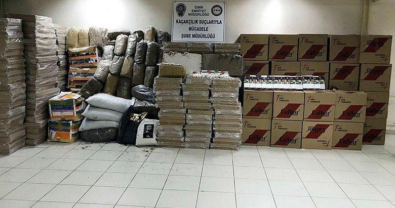 İzmir'de kaçakçılara ağır darbe