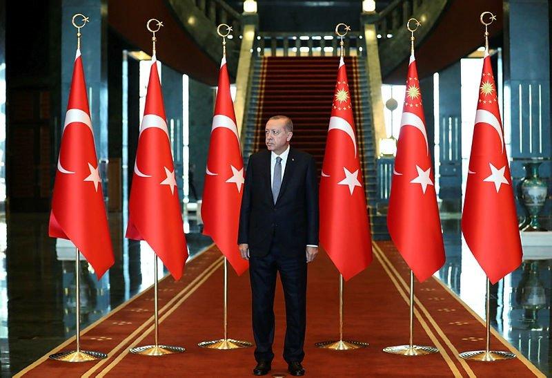 Başkan Erdoğan, Cumhurbaşkanlığı Külliyesi'nde kutlamaları kabul etti