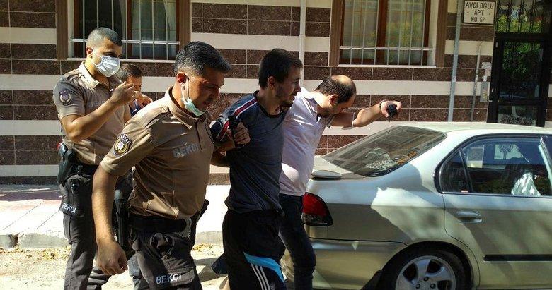 Manisa'da polise teslim olmak istemeyen şüpheli, evindeki eşyaları ateşe verdi