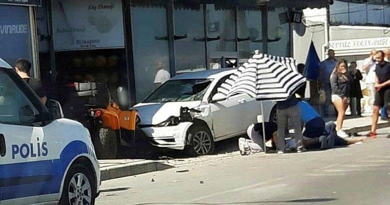 İzmir'de acı kaza! Karşıya geçen kişiye çarptı