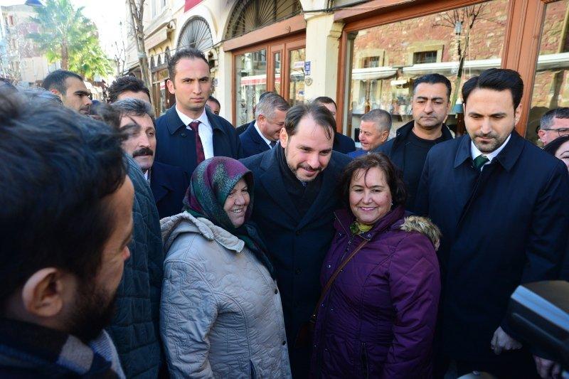 Bakan Albayrak'tan Çanakkale'de esnaf ziyareti!