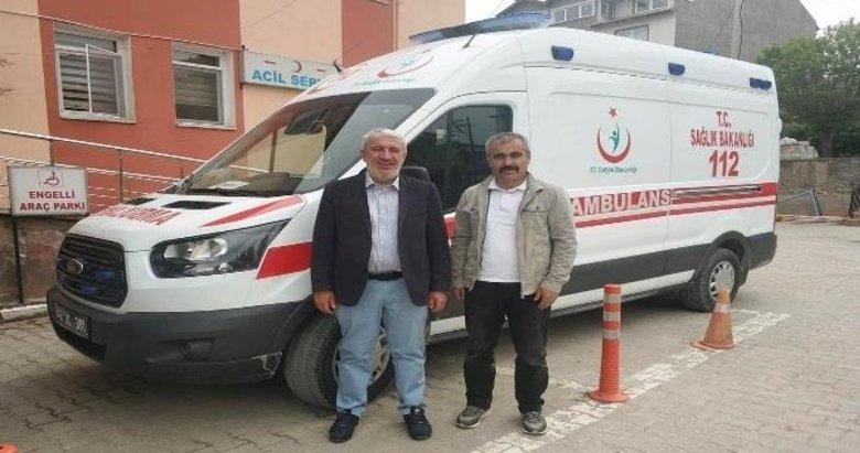 Hisarcık İlçe Devlet Hastanesi'ne yeni ambulans