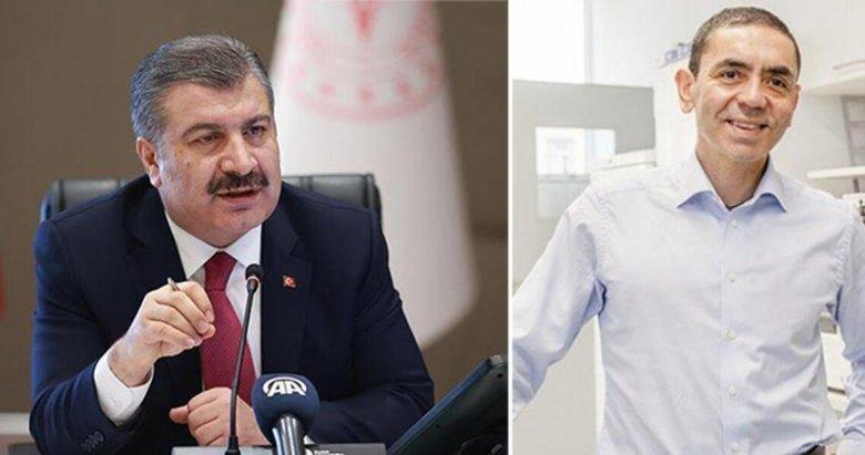 Son dakika: Sağlık Bakanı Fahrettin Koca, Uğur Şahin ile görüştü