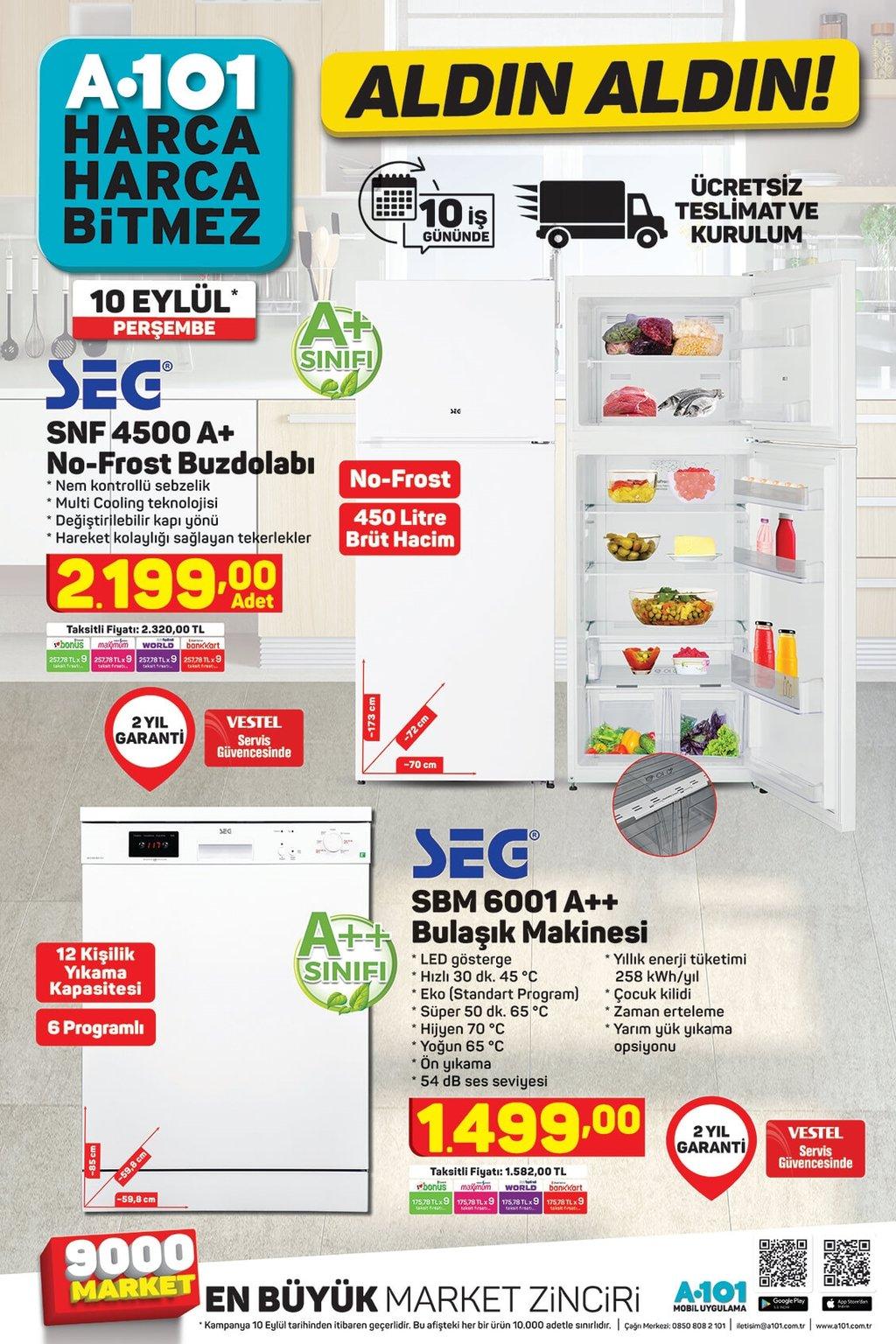 A101 aktüel ürünler kataloğu 10 Eylül Perşembe!