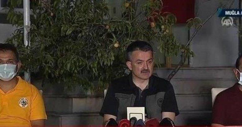 Tarım ve Orman Bakanı Bekir Pakdemirli'den flaş açıklamalar! İşte orman yangınlarında son durum!
