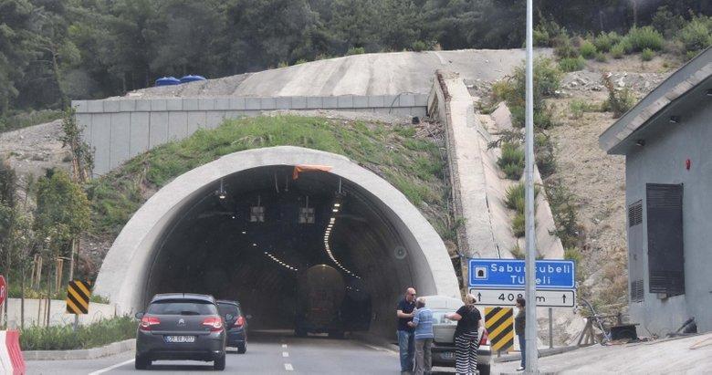 Sabuncubeli Tünelinin İzmirden Manisaya gidiş yönü kapatıldı