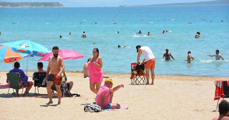 Kuşadası ve Didim plajlarında yoğunluk