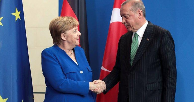 Son dakika: Başkan Erdoğan, Almanya Başbakanı Merkel'le görüştü