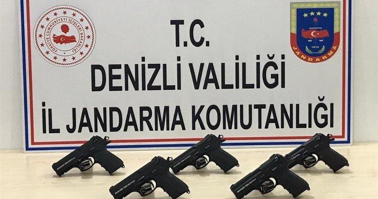 Denizli'de jandarmadan silah ve mühimmat kaçakçılarına operasyon