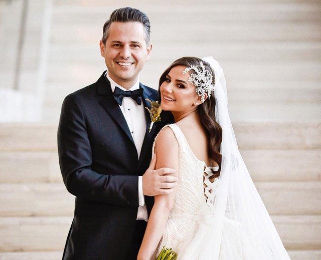 Merve Özbey ve Kenan Koçak evlendi! İşte düğünden kareler
