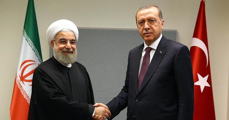 Son dakika: Başkan Erdoğan, Ruhani ile görüştü