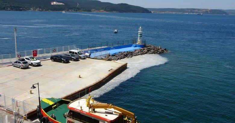 Poyraz, Çanakkale Boğazı'ndaki deniz salyaları dağıttı
