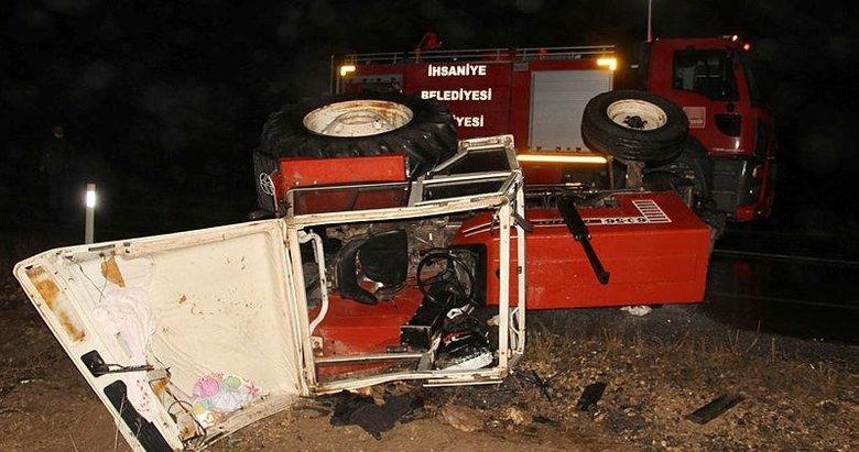 Afyonkarahisar'da faciadan dönülen kazada 5 kişi yaralandı