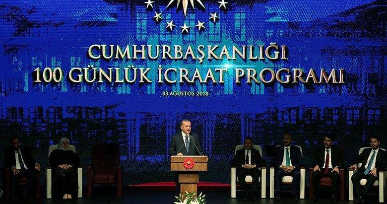 Başkan Erdoğan 100 günlük eylem planını açıkladı