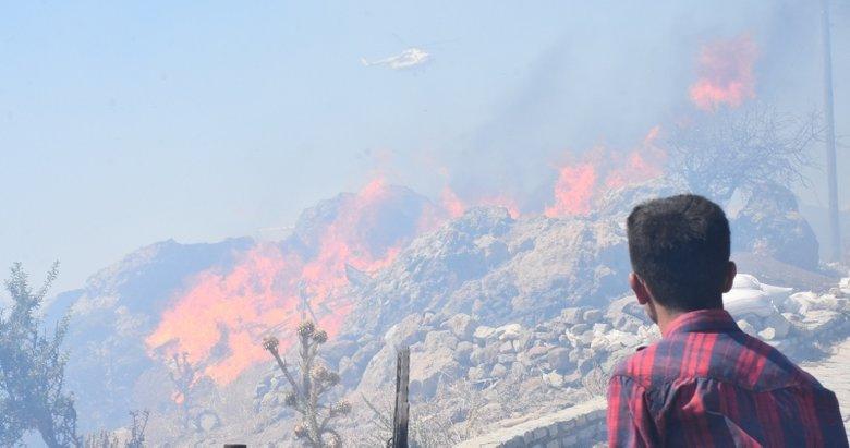 Bodrum'da makilik alanda çıkan yangın kontrol altına alındı