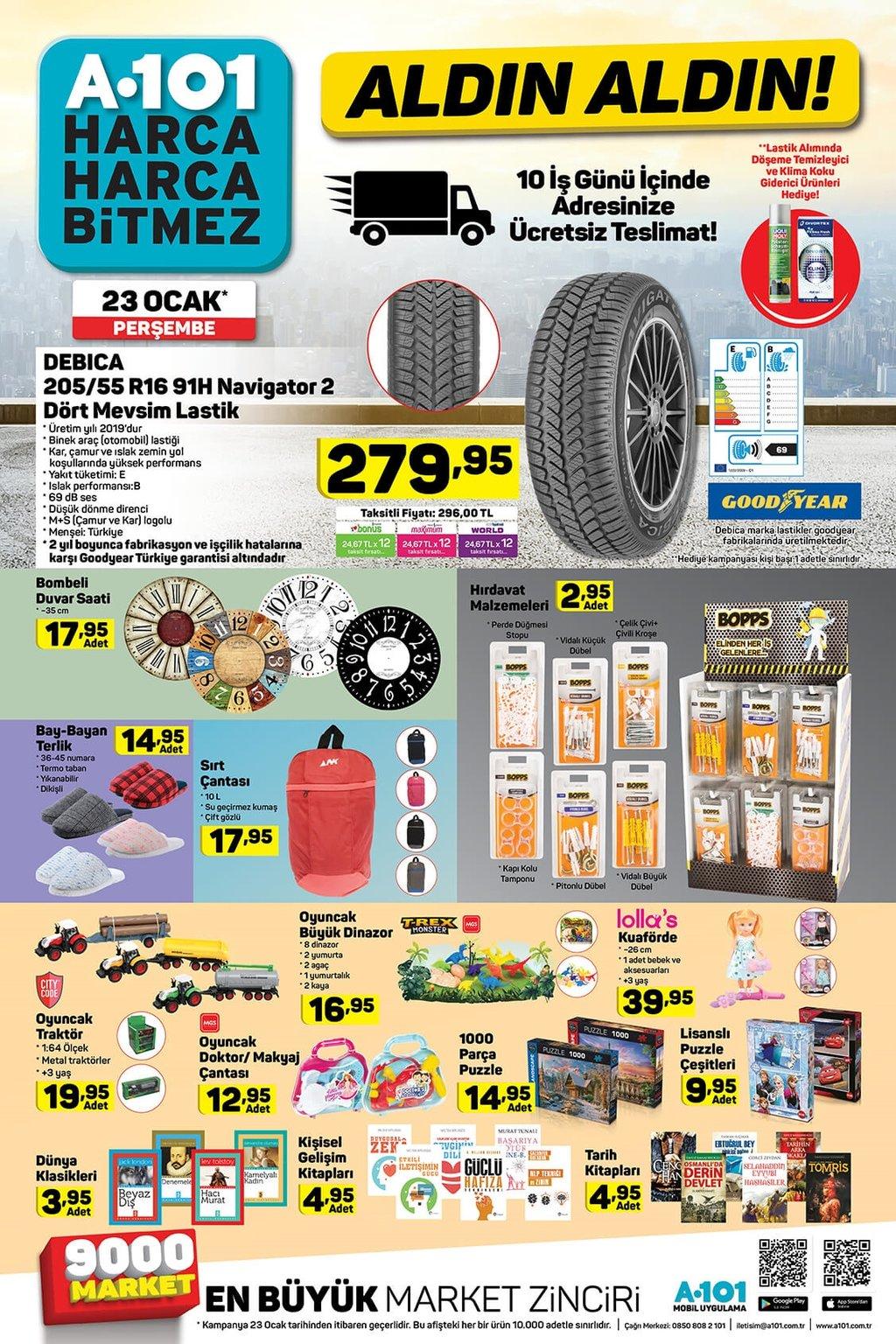 23 Ocak Perşembe A101 aktüel ürünler kataloğu!