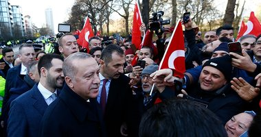 Başkan Recep Tayyip Erdoğan'a Londra'da sevgi seli