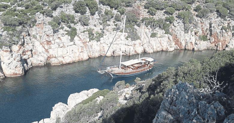 Kaş değil Fethiye teknesi