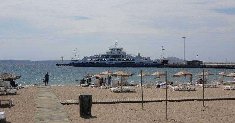 Ege'nin incisi Geyikli'de sahiller boş kaldı
