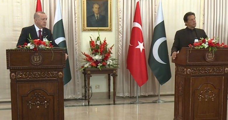 Başkan Erdoğan ile Pakistan Başbakanı İmran Han'dan kritik açıklamalar