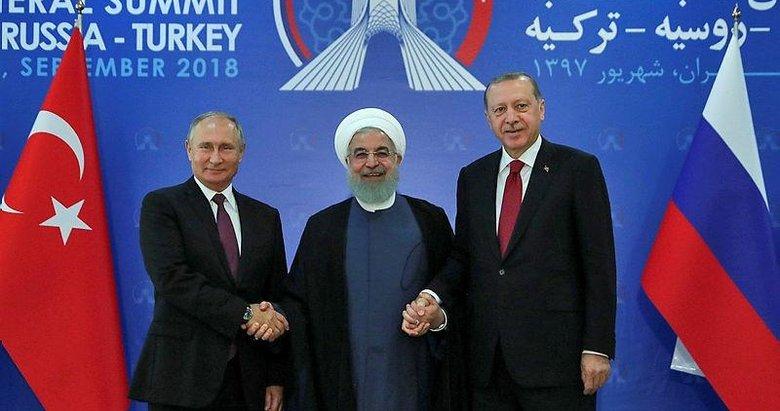 Tahran'da tarihi İdlib zirvesi! Başkan Erdoğan'dan kritik mesajlar
