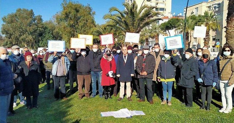 Karşıyaka Belediyesi'ne tepki gösterdiler! Kentsel dönüşüme imar engeli