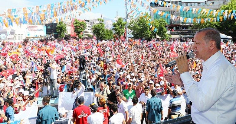 Cumhurbaşkanı Erdoğan: Yalanı bırakın artık