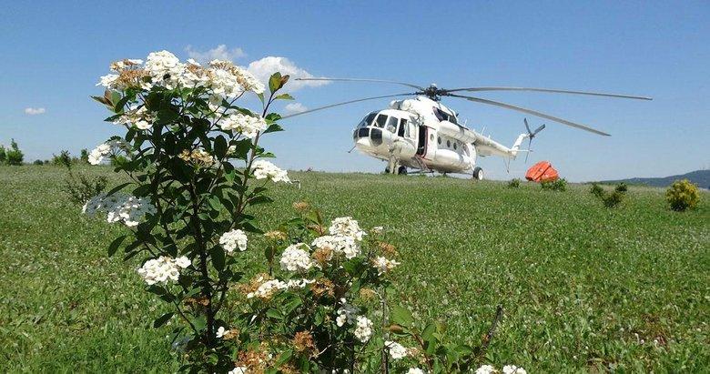 Yangın söndürme helikopteri Çanakkale'de göreve başladı
