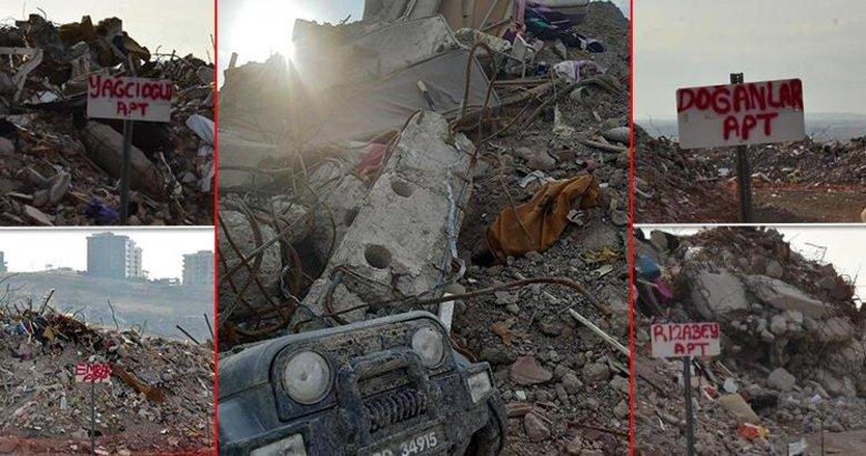 İzmir'de depremde yıkılan binaların molozları korunuyor
