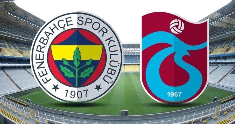 Fenerbahçe - Trabzonspor I 11'ler belli oldu