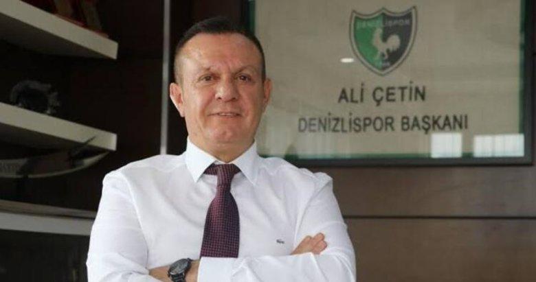 """Denizlispor'da Ali Çetin """"devam"""" dedi"""