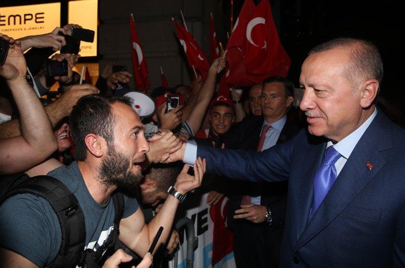 Başkan Erdoğan'a ABD'de coşkulu karşılama