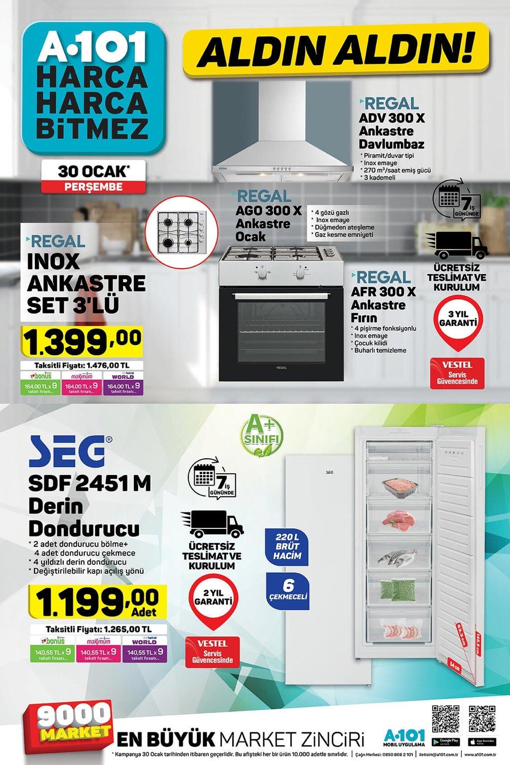 30 Ocak Perşembe A101 aktüel ürünler kataloğu indirimleri!