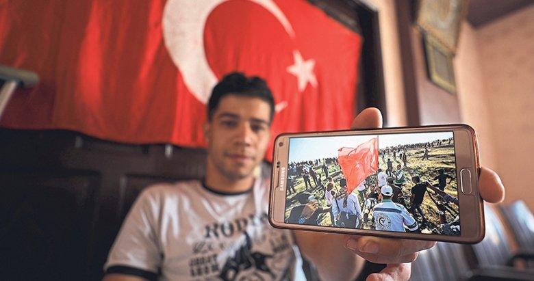 Türk Bayrağı'nı kasıtlı olarak hedef aldılar