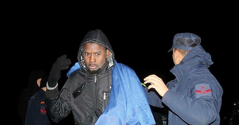 Su alan bottaki 8 göçmen kurtarıldı