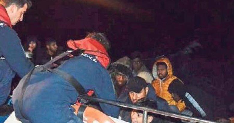 48 göçmen yakalandı