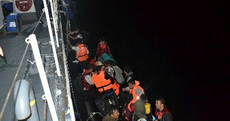 Çanakkale Ayvacık'ta 92'si çocuk, 225 kaçak göçmen yakalandı