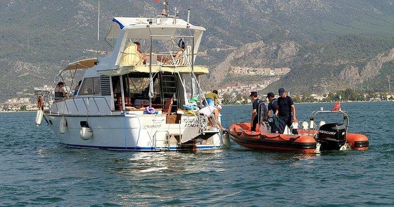 Fethiye Sahil Güvenlikten tur teknelerine denetim