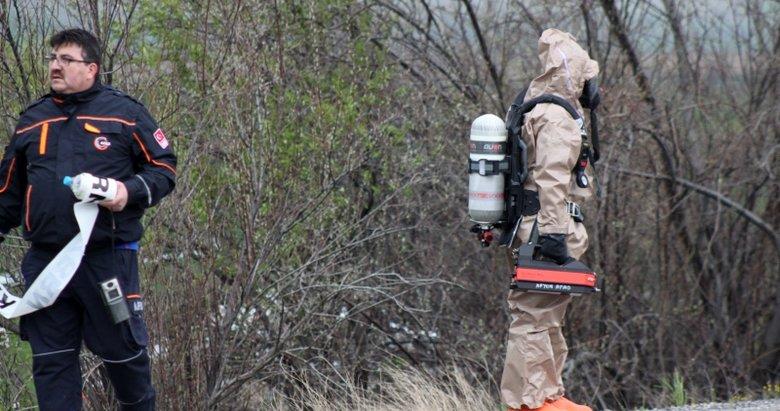 Afyonkarahisar'da klor yüklü tanker devrildi