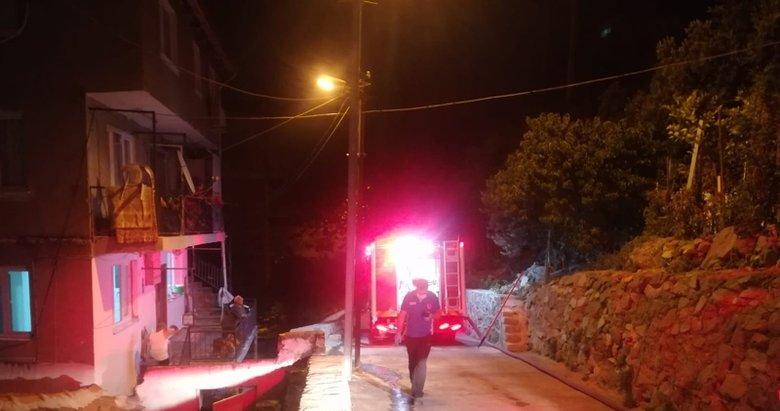 Mangal ateşi eve sıçradı!