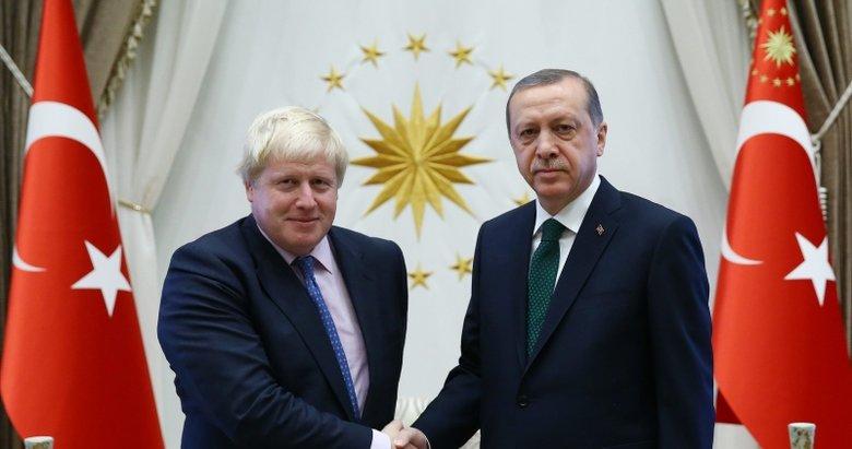 Başkan Erdoğan, Boris Johnson ile görüştü